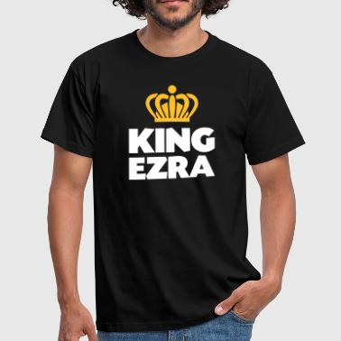 King ezra name thing crown - Men's T-Shirt
