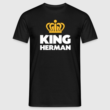 King herman name thing crown - Men's T-Shirt