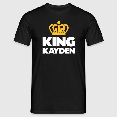 King kayden name thing crown - Men's T-Shirt