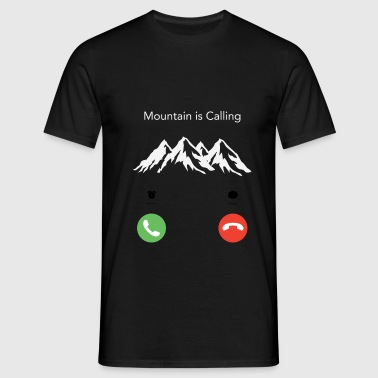 The mountain calls - Men's T-Shirt