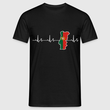 Heartbeat - Portugal - T-shirt Homme
