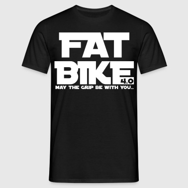 FATBIKE - MAY THE GRIP BE WITH YOU 1 - Men's T-Shirt