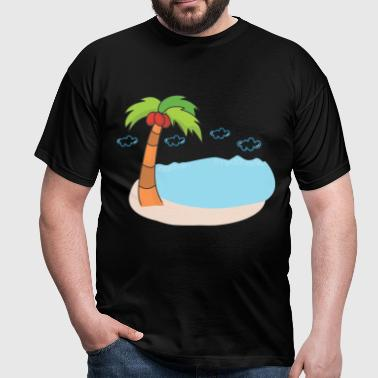 Coconut palms island gift idea - Men's T-Shirt