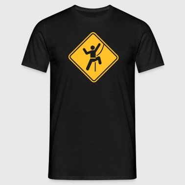 Rock Climbing Roadsign - T-shirt Homme