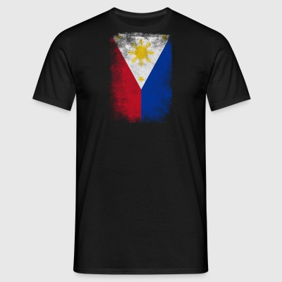 Philippines Filipino Flag Proud Vintage Distressed - Men's T-Shirt