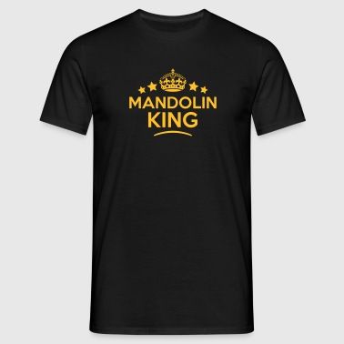 mandolin king keep calm style crown star - Men's T-Shirt