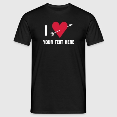 I ♥ / I love - Mannen T-shirt