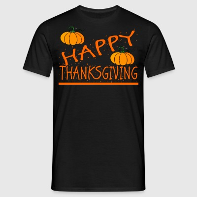 happy thanksgiving das erntedank shirt - Männer T-Shirt