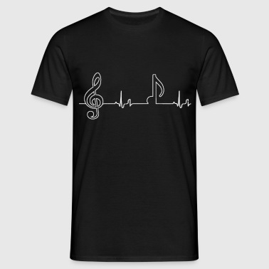 Heartbeat - Noten - Männer T-Shirt