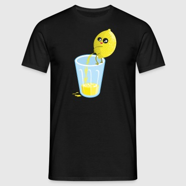 Lemon pees lemonade - Mannen T-shirt