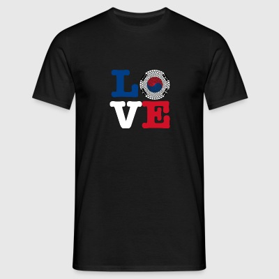 KOREA REP HEART - Herre-T-shirt