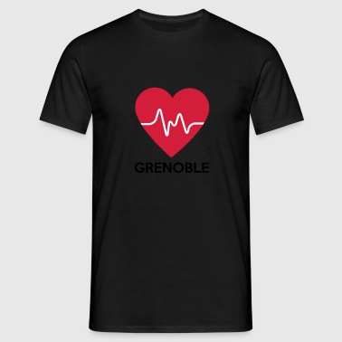coeur Grenoble - T-shirt Homme