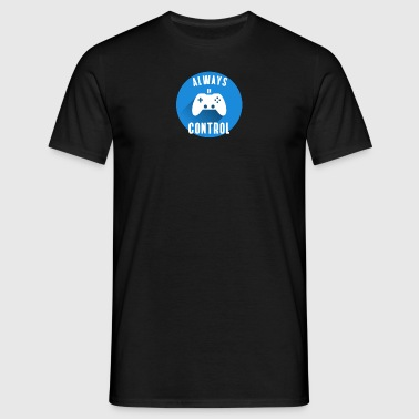 Allt under kontroll konsol knappen Play Station - T-shirt herr