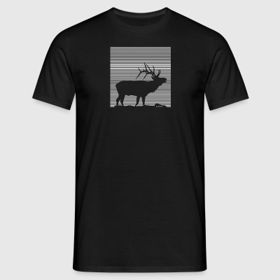 Lines | Deer - Men's T-Shirt