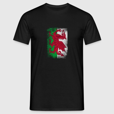Wales Flag Proud Welsh Vintage Distressed Shirt - Men's T-Shirt