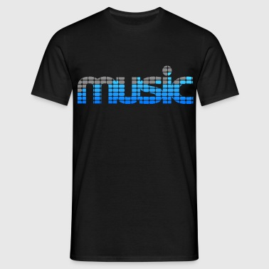 Music EQ (Blue) - T-shirt Homme