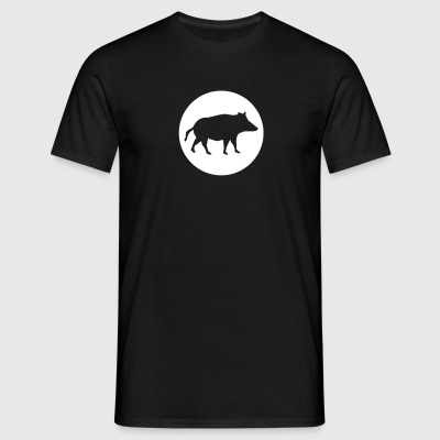 Wild boar in a circle - Men's T-Shirt