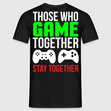 Spil sammen Cute Gaming Couple T-shirt - Herre-T-shirt