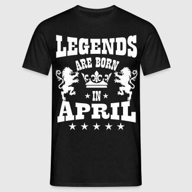 Legends are born in April Lions Crown Birthday - Männer T-Shirt