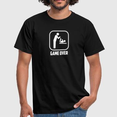 vader papa game over - Mannen T-shirt