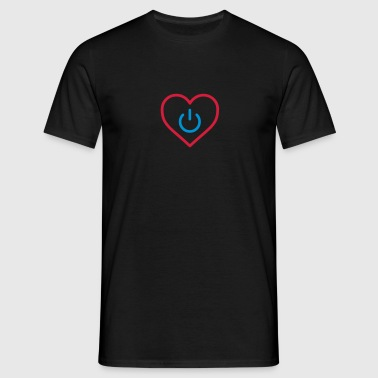 power of love v3 - Mannen T-shirt
