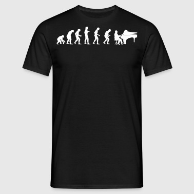EVOLUTION PIANIST - Männer T-Shirt