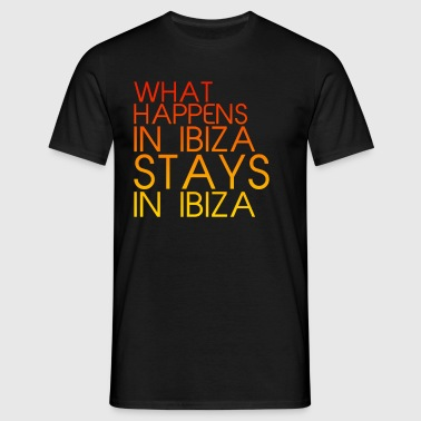 What Happens In Ibiza Mens - Men's T-Shirt