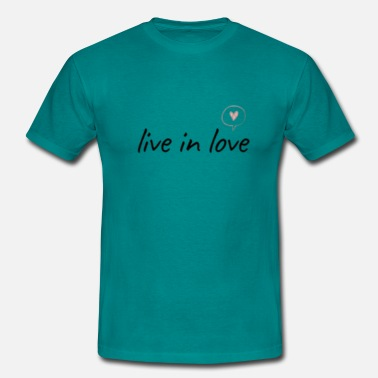 Pixelland Live in love - Men's T-Shirt