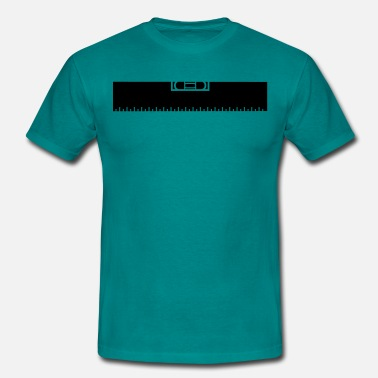 Measure Measure Measure black ruler measure measuring reno - Men's T-Shirt