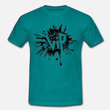 Splatter Tear ink blotter paint splatter graffiti circle sp - Men's T-Shirt