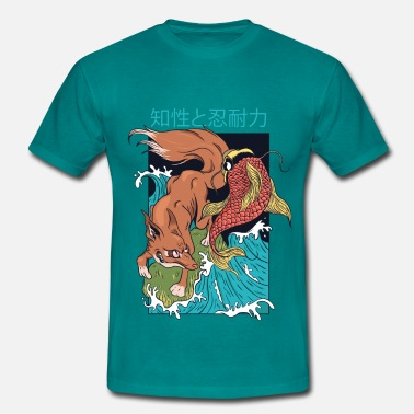 Style FOX AND FISH JAPANESE STYLE - Men's T-Shirt