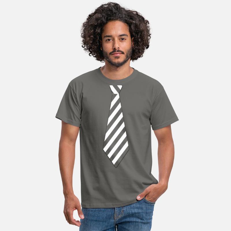 Slips med hvite striper Hvit stripet slips T skjorte for