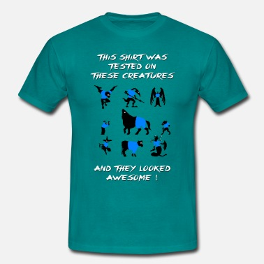 Tested CV Tested on Creatures (Blue) - T-shirt herr