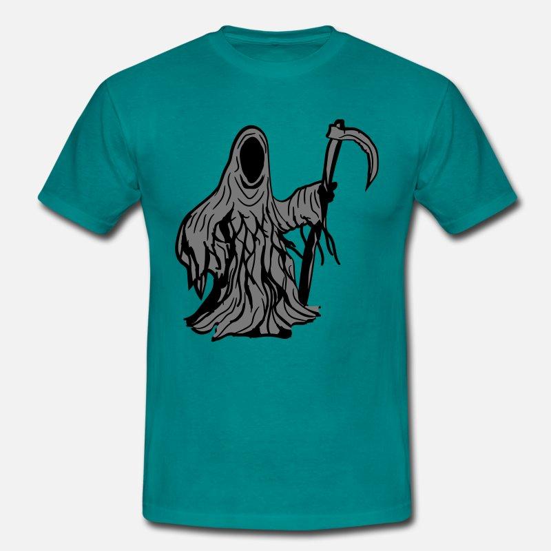 death evil sickle Scythe scrap mind Men's T-Shirt - diva blue