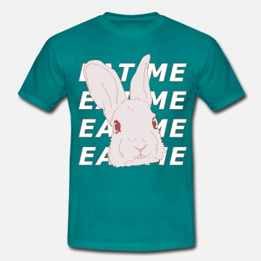 Rabbit Says: Eat Me - Men's T-Shirt