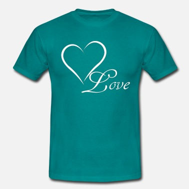 Love heart white - Men's T-Shirt