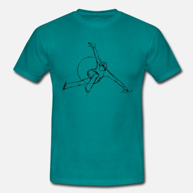 Black spider skater silhouette - Men's T-Shirt