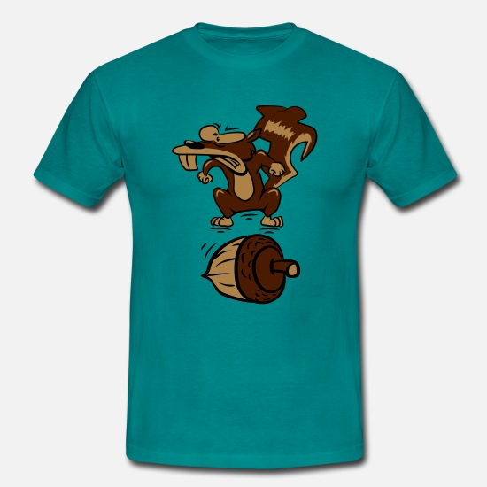 Squirrel T-Shirts - Squirrel witty nut angry - Men's T-Shirt diva blue