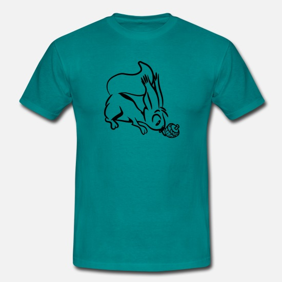 Squirrel T-Shirts - Squirrel cute witty - Men's T-Shirt diva blue