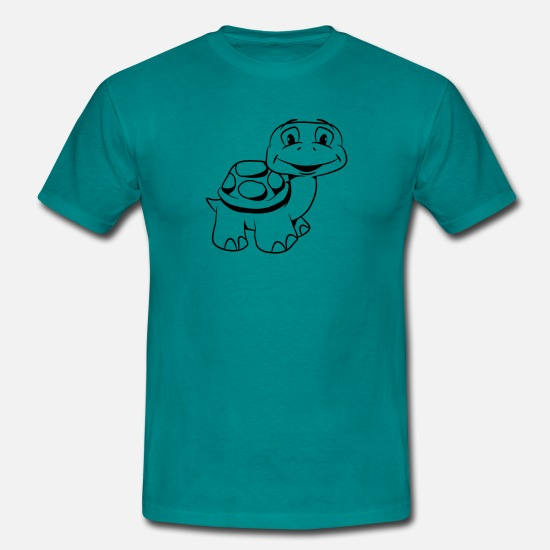 Turtle T-Shirts - Turtle kiffen joint witty - Men's T-Shirt diva blue