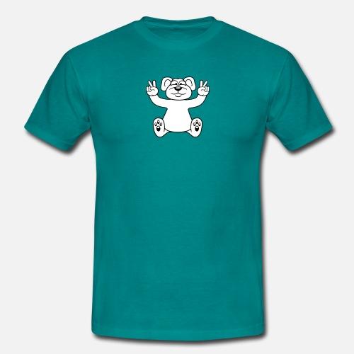 Orso polare seduto dolce simpatico cartone animato magliette