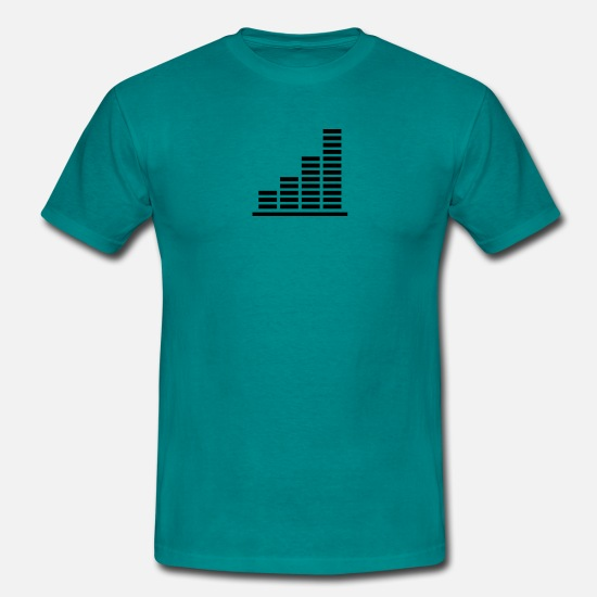 Business T-Shirts - beam strokes ascending profit chart - Men's T-Shirt diva blue