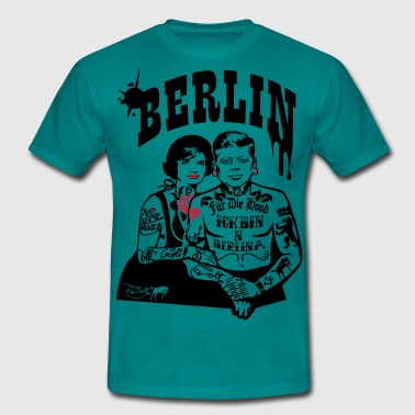 For The Hood - Berlin (til lyse baggrunde) - Herre-T-shirt