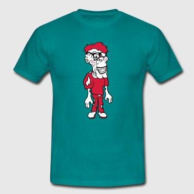 nasty ugly nerd  freak hornbrille pimple  - Men's T-Shirt