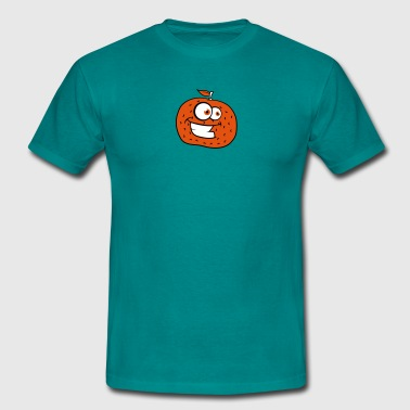 orange comic cartoon face grin funny - Men's T-Shirt