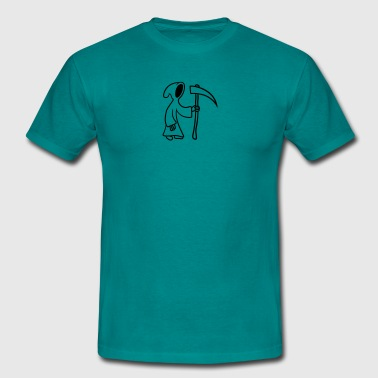 Comic Cartoon Tod mit Sense  - Männer T-Shirt