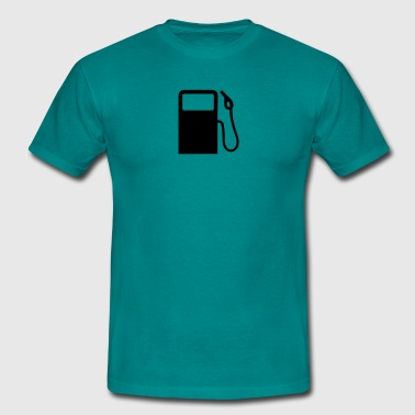 pump gas station refuel - Men's T-Shirt