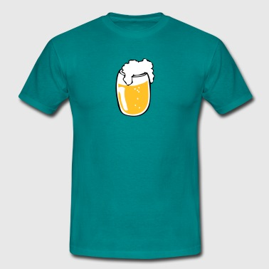 Drinking beer glass drink - Men's T-Shirt