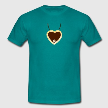Necklaces i mog di hearts edelweiss flowers ginger - Men's T-Shirt