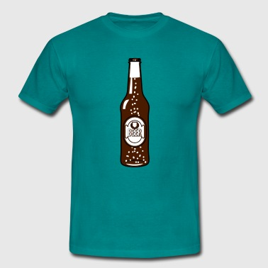 Beer drinking beer bottle - Men's T-Shirt
